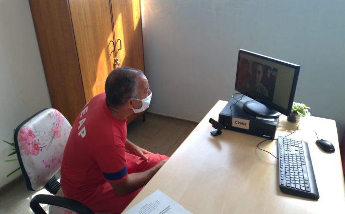 Visitas virtuais já são realizadas em 87% dos presídios e penitenciárias de Minas