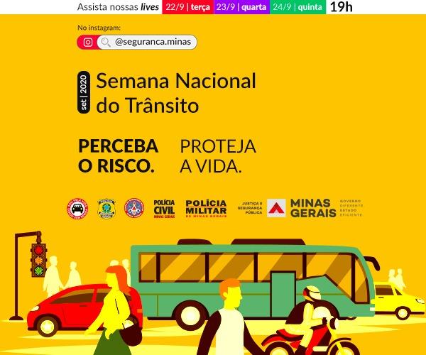 Semana do Trânsito será de conscientização on-line e reforço na fiscalização