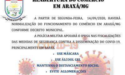 Polícia Militar prestará apoio ao IPDSA na fiscalização do comércio em Araxá/MG