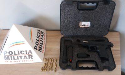Polícia Militar prende autor por porte ilegal de arma de fogo em Araxá/MG