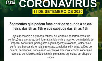 Prefeitura e Comitê COVID-19/Araxá autorizam reabertura do comércio em horário normal a partir desta segunda(14)