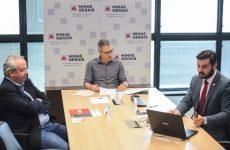 Romeu Zema apresenta Portfólio de Projetos 2021 ao líder da bancada mineira na Câmara