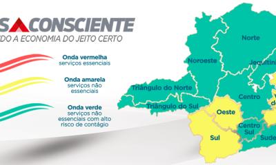 Metade do estado está na onda verde do plano Minas Consciente