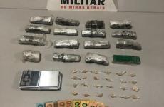 Polícia Militar prende/apreende autores por tráfico de drogas em Perdizes/MG