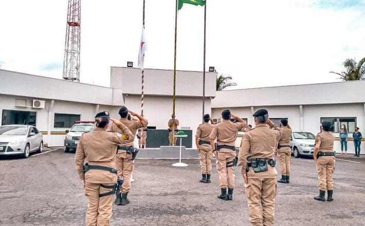 37º BPM realiza solenidade em comemoração ao Dia da Bandeira Nacional