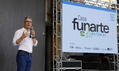 Romeu Zema participa da inauguração da Casa Funarte Liberdade