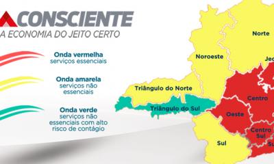 Mais duas regiões do Estado regridem para a onda vermelha do Minas Consciente