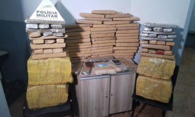 Polícia Militar apreende 193 quilos de maconha na BR-262 em Araxá