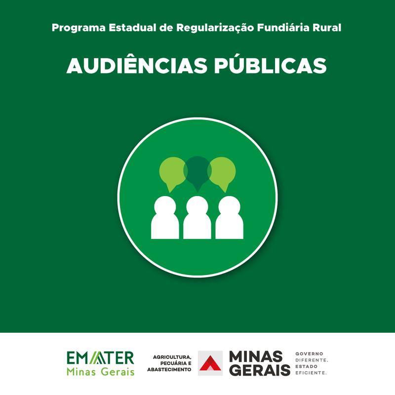 Governo de Minas inicia audiências públicas de 2021 do Programa de Regularização Fundiária Rural