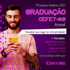 Inscrições abertas para os cursos de Graduação do CEFET-MG, campus Araxá