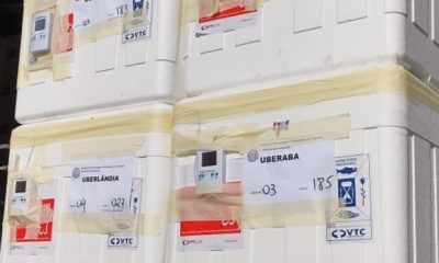 Minas Gerais distribui 28ª remessa de vacinas contra covid-19