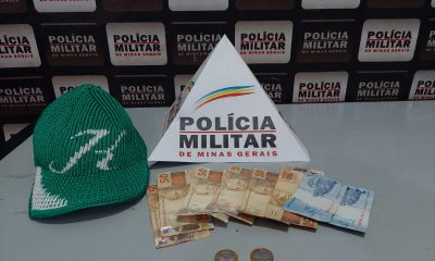 POLÍCIA MILITAR PRENDE SUSPEITO DE FURTO EM SANTA JULIANA/MG