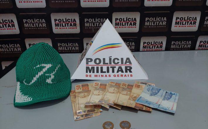 Polícia militar prende suspeito de furto na cidade de Santa Juliana-MG