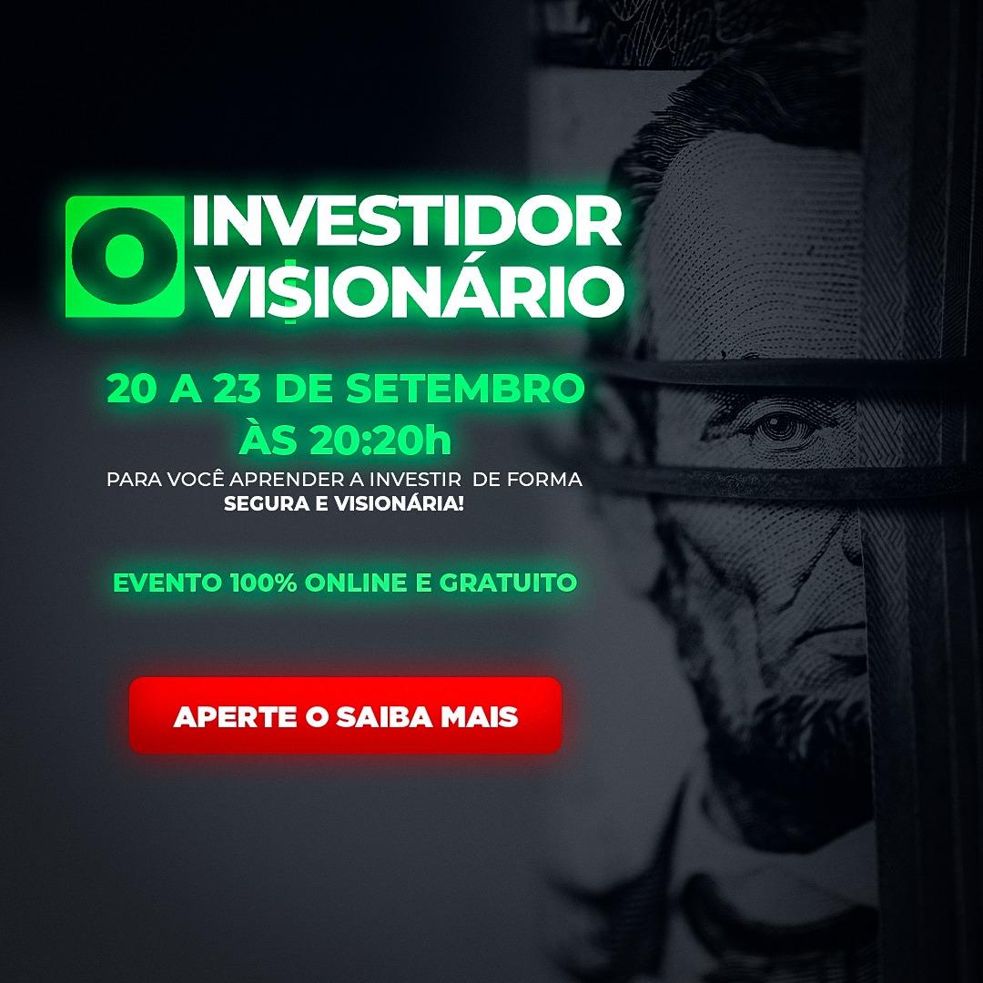 """Evento gratuito """"Investidor Visionário"""", com César Karam, começa nesta segunda-feira"""