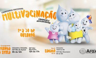 Araxá realiza Dia D de Multivacinação de Crianças e Adolescentes neste sábado