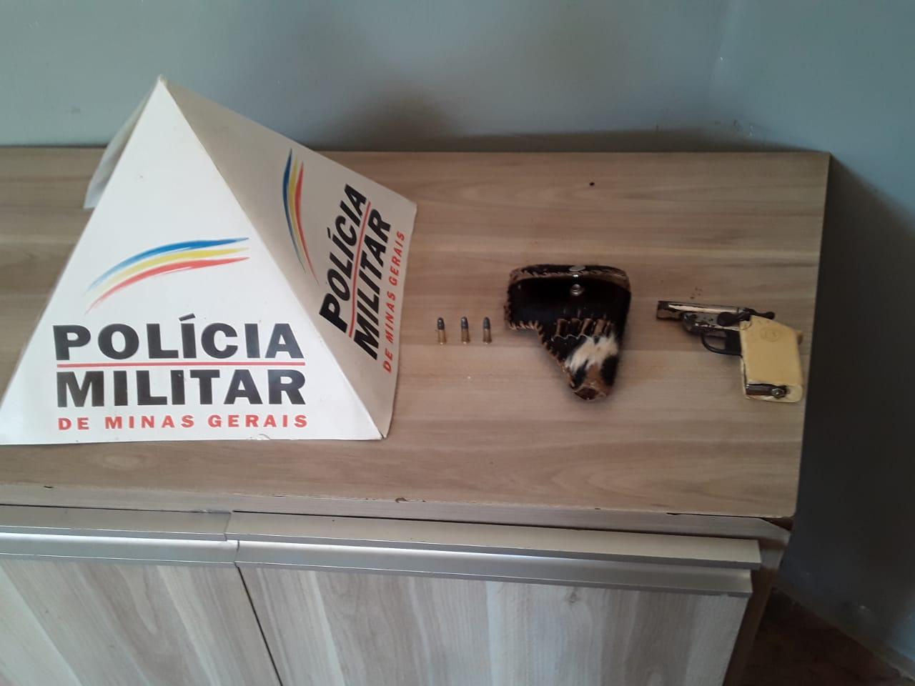 Polícia Militar prende autor de ameaça e apreende arma de fogo em Araxá